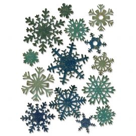 Sizzix Tim Holtz - Thinlits Die Set  14pk - Paper Snowflakes Mini - 661599
